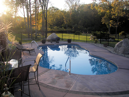 Swimming Pool Construction - Finished Pool