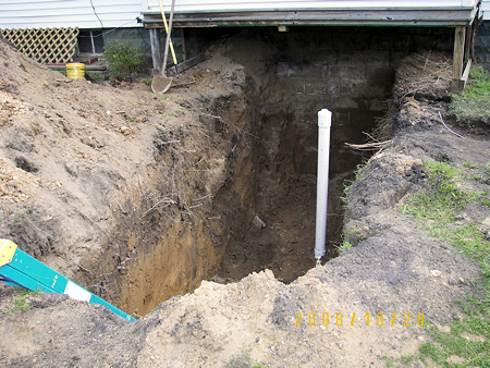 Hole for Drain Pipe